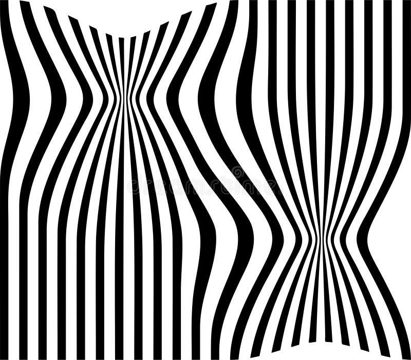 Abstraia para repelir o fundo branco da ilustração do vetor do fundo das tiras pretas ilustração royalty free