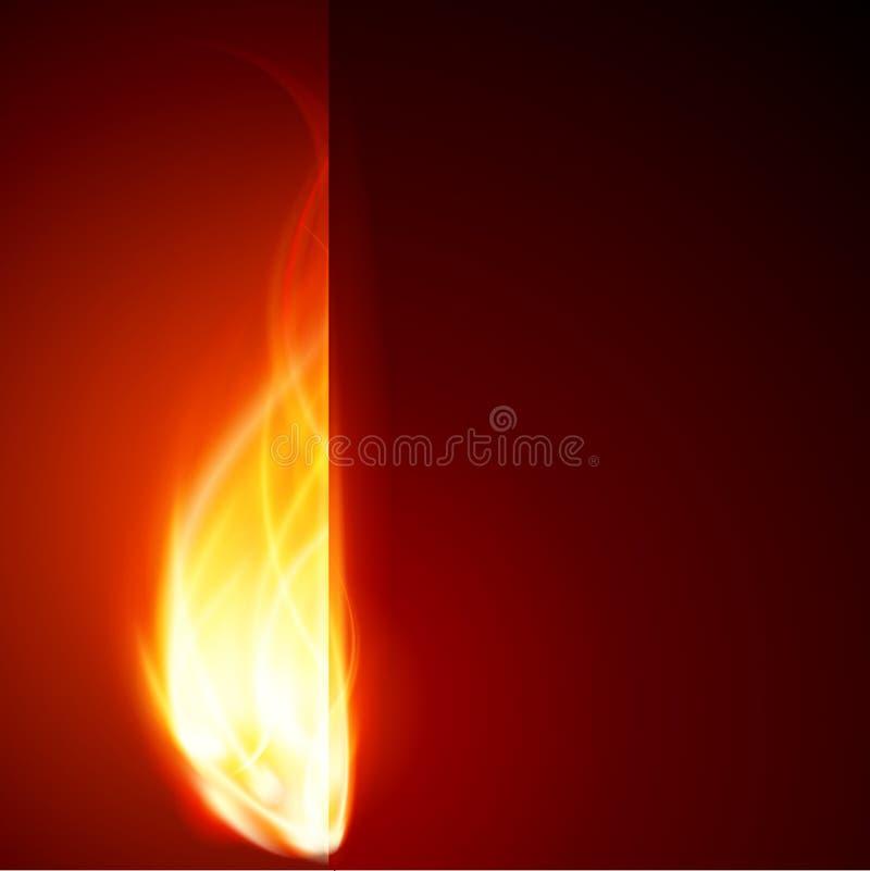Abstraia a parede do incêndio da flama da queimadura ilustração stock