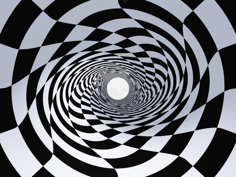 Abstraia um túnel ilustração do vetor
