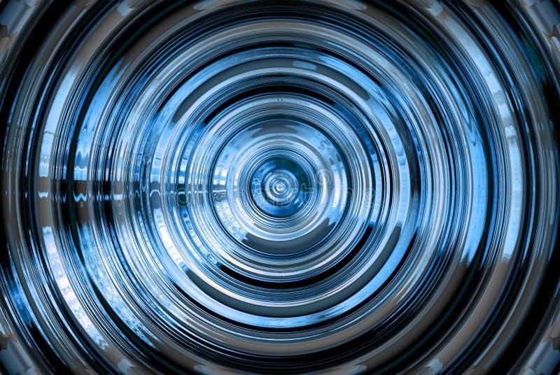 Abstraiga el fondo azul hipnótico stock de ilustración