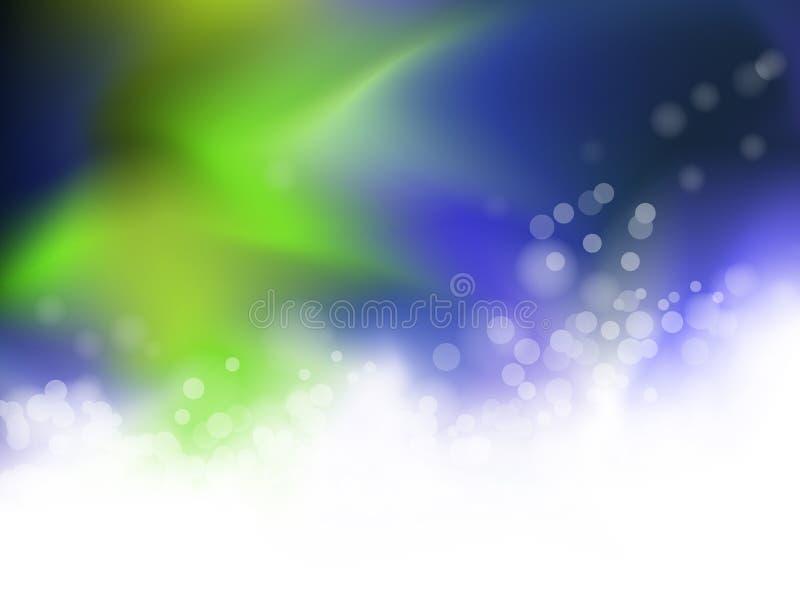 Abstraiga el fondo azul y verde libre illustration