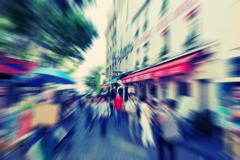 abstraiga el fondo Bulevar Montmartreon en París - parte radial imagen de archivo libre de regalías