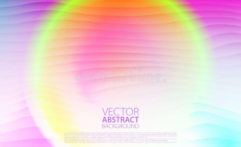 abstraiga el fondo Fondo colorido con efectos luminosos Vector el ejemplo para las ilustraciones, aviadores del partido, carteles stock de ilustración