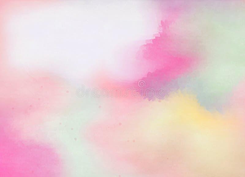 Abstraiga el fondo colorido de la acuarela Pintura del arte de Digitaces stock de ilustración