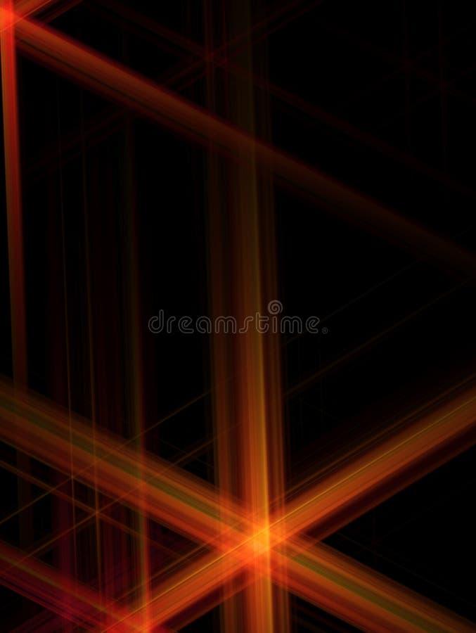 Abstraiga el fondo con una estrella roja brillada stock de ilustración