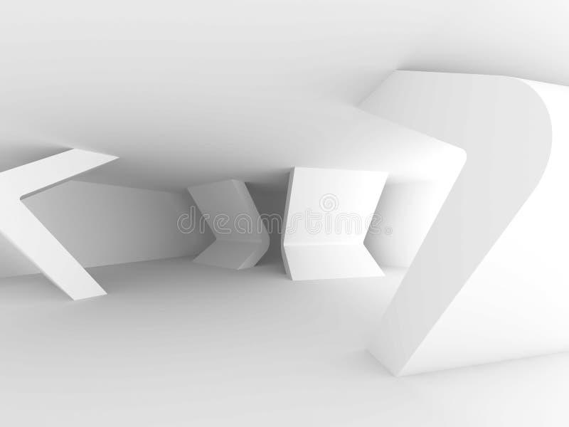 Abstraiga el fondo de la configuración Diseño interior mínimo blanco stock de ilustración
