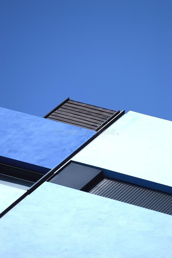 Abstraiga el fondo de la configuración Geometría azul fotografía de archivo
