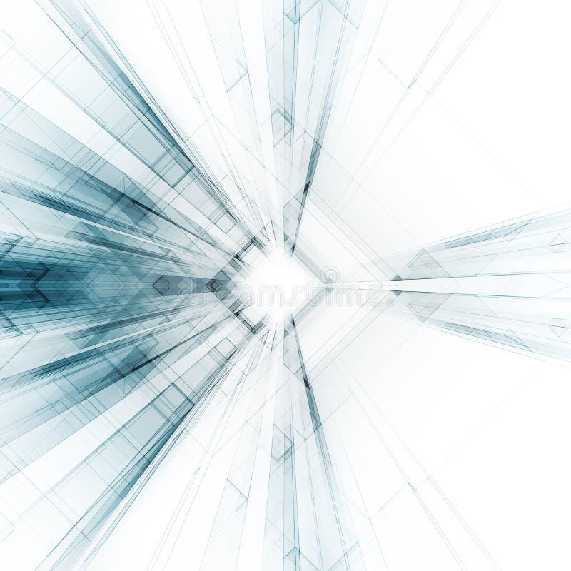 Abstraiga el fondo de la configuración representación 3d stock de ilustración
