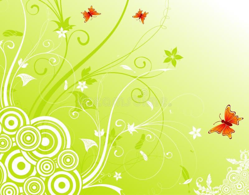 Abstraiga el fondo de la flor stock de ilustración