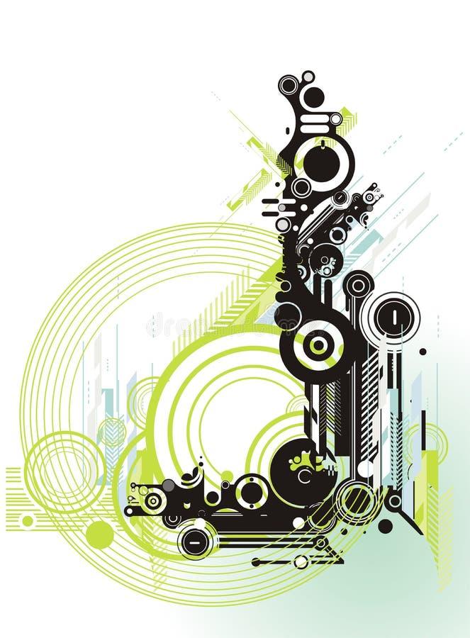 Abstraiga el fondo del grunge y de la tecnología ilustración del vector