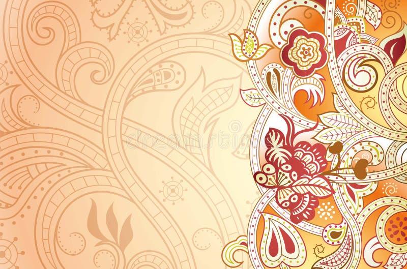 Download Abstraiga el fondo floral stock de ilustración. Ilustración de círculo - 42430645