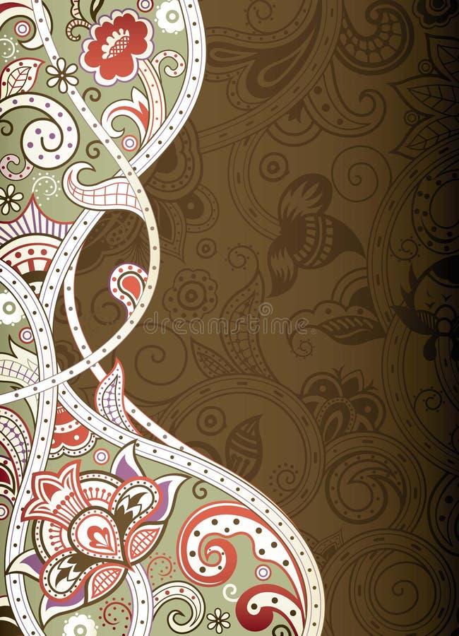 Download Abstraiga el fondo floral stock de ilustración. Ilustración de flora - 42430664