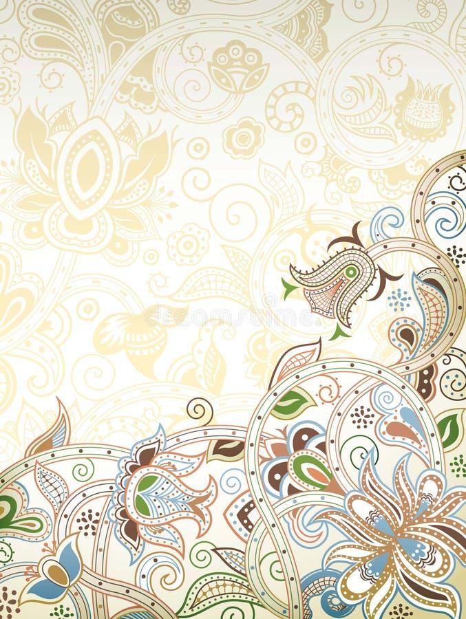 Download Abstraiga el fondo floral stock de ilustración. Ilustración de curva - 42430665