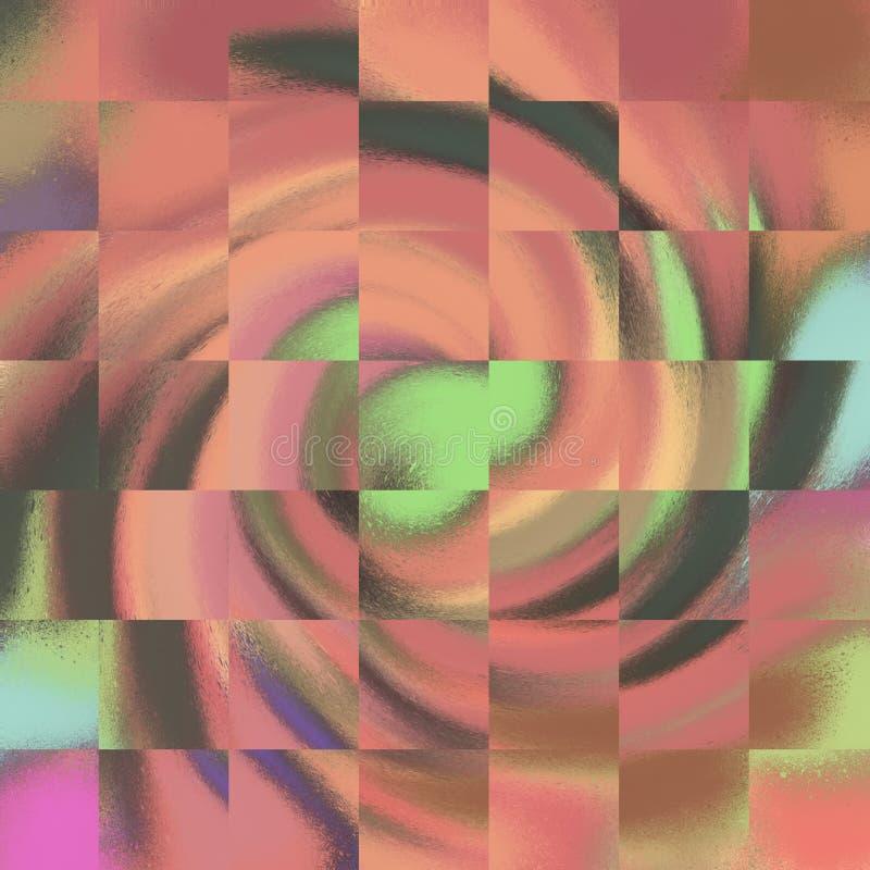 Abstraiga el fondo pintado Efectos flúidos coloridos El vetear texturizado ilustraciones modernas para impreso: Carteles, arte de stock de ilustración