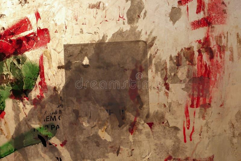 abstraiga el fondo Ventana caótico manchada con la pintura, iluminada por el sol fotografía de archivo libre de regalías