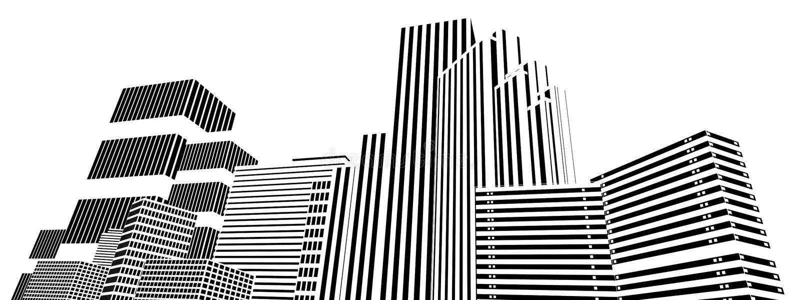 Abstraiga el horizonte de Reno libre illustration