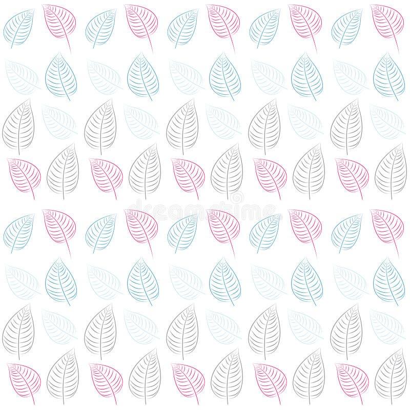 Abstraiga el modelo inconsútil. Leaves.Blue, color de rosa, gris ilustración del vector
