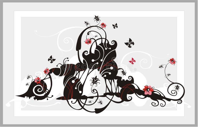 Abstraiga el ornamento de la flor stock de ilustración