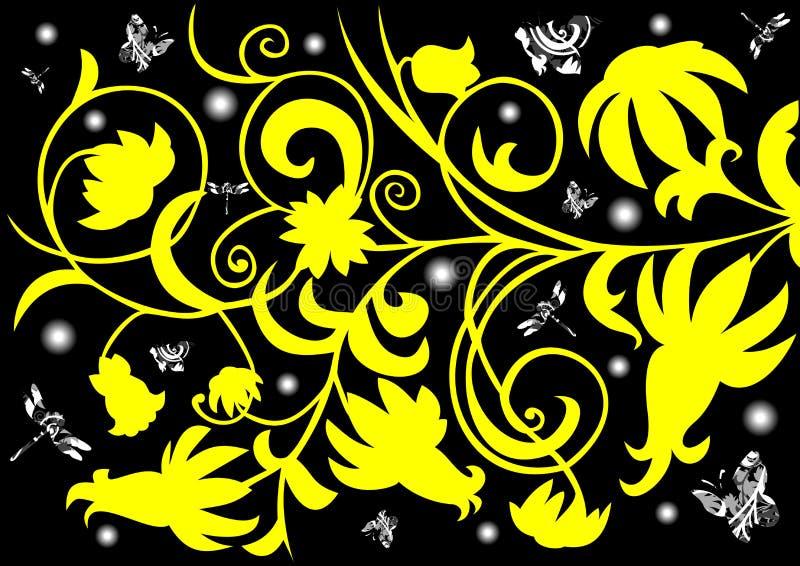 Abstraiga el ornamento floral ilustración del vector