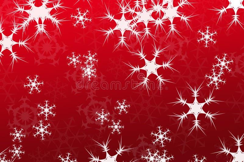 Abstraiga la composición, rojo del fondo de la nieve imagenes de archivo