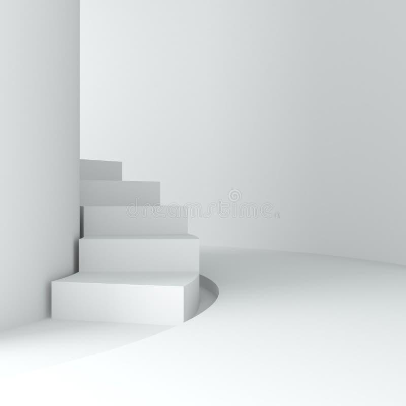Abstraiga la escalera blanca stock de ilustración