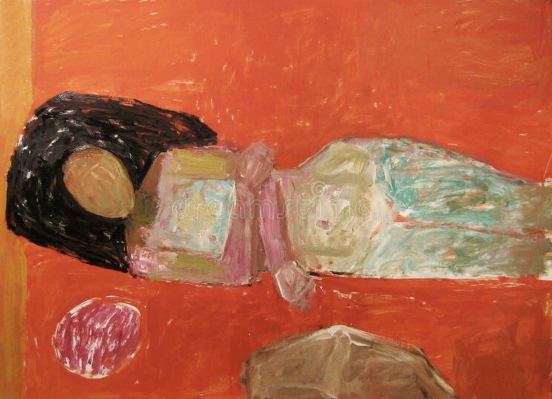 Abstraiga la pintura desnuda imagen de archivo