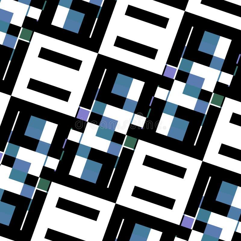 Abstraiga la textura del fondo Diseño geométrico elegante Concepto creativo Cajas únicamente dispuestas Decoración negra blanca a ilustración del vector