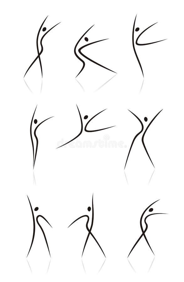 Abstraiga las figuras femeninas. Parte II stock de ilustración