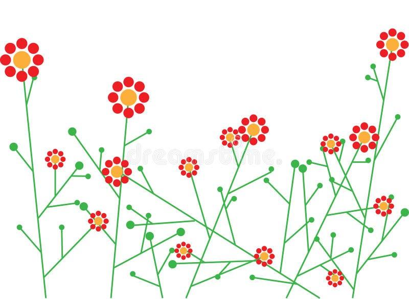 Abstraiga las flores del vector stock de ilustración