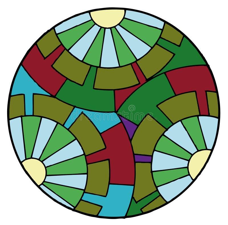 Abstraiga los círculos ilustración del vector
