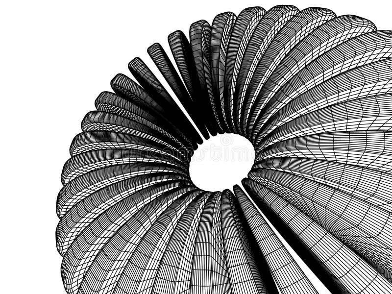 abstrait 3d illustration de vecteur