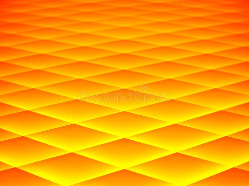 Abstrait dans jaune et l'orange illustration stock