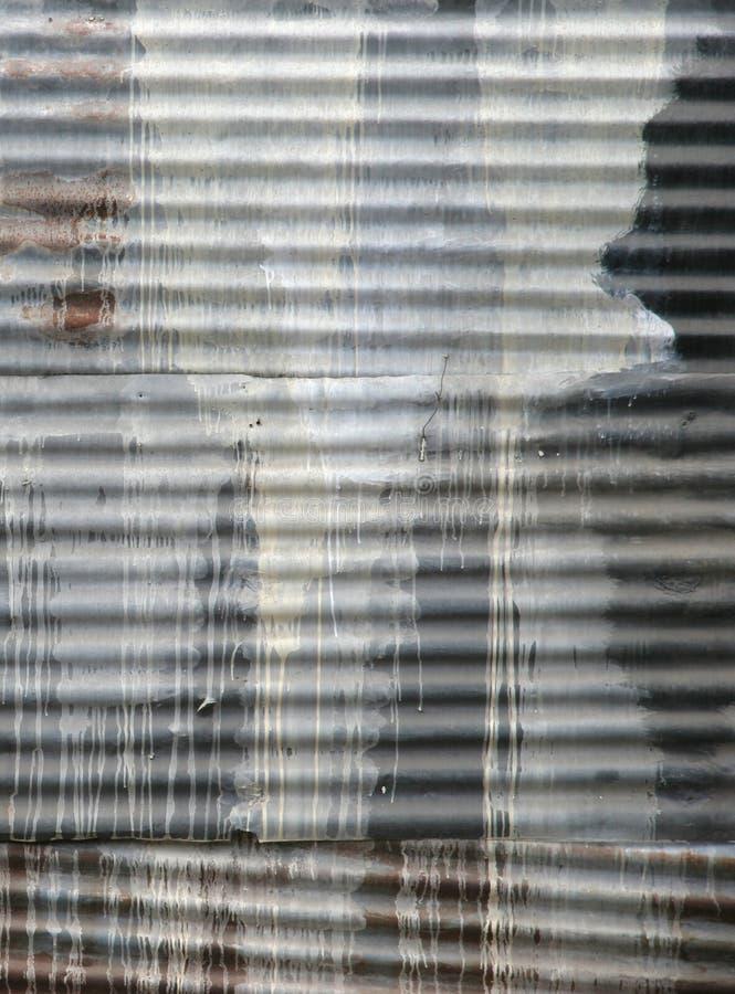 Abstrait en acier ondulé photographie stock