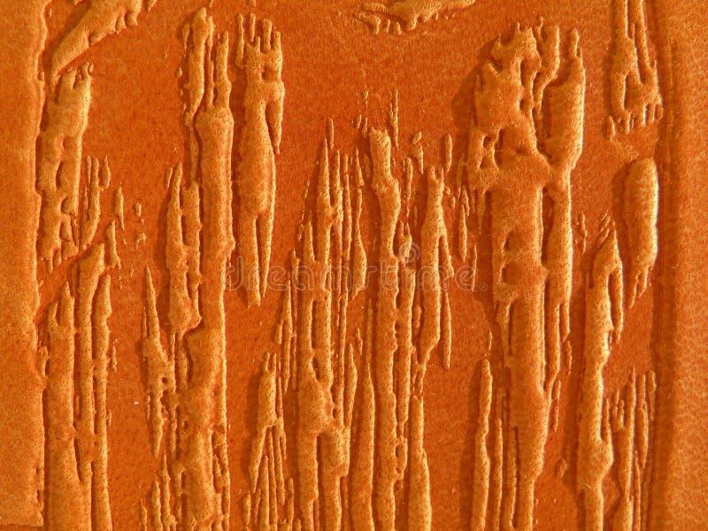 Abstrait en cuir orange image libre de droits