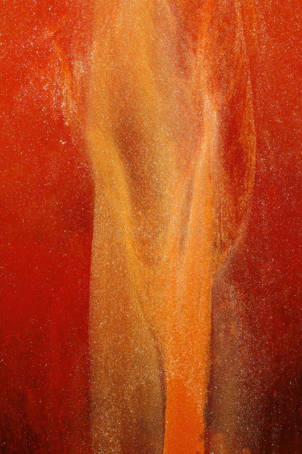 Or abstrait et rouge   photographie stock libre de droits