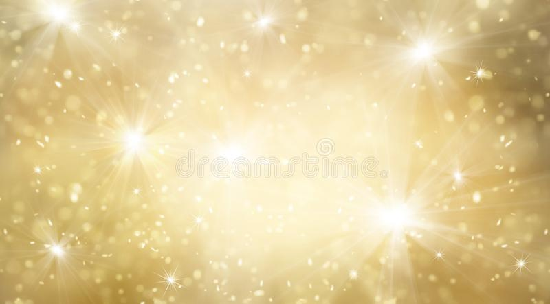Or abstrait et scintillement lumineux pour le fond de nouvelle année illustration libre de droits
