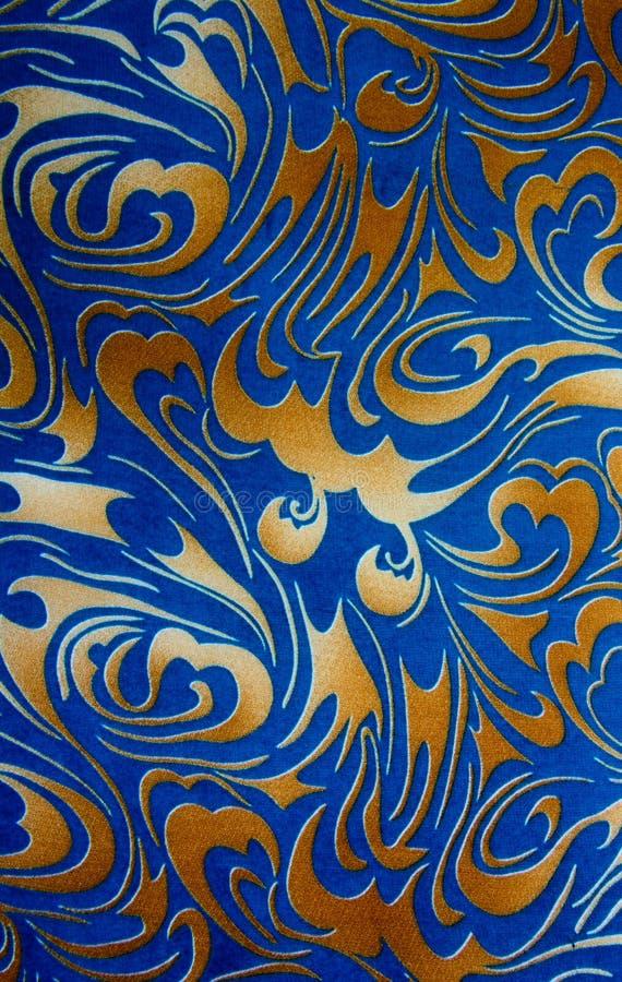 Or abstrait et texture sans couture florale bleue image libre de droits