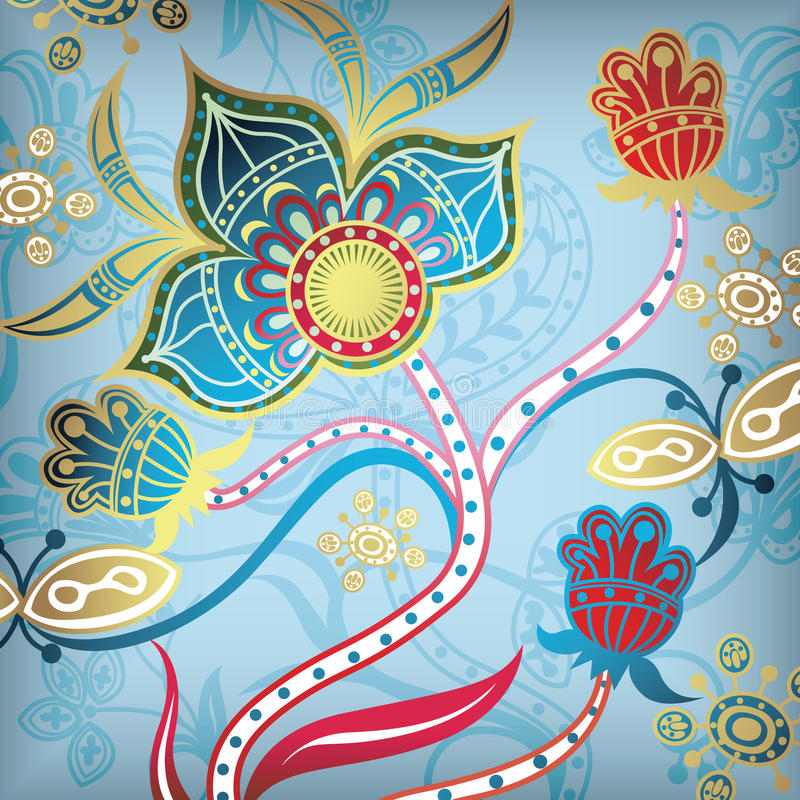 Abstrait floral 6 illustration de vecteur
