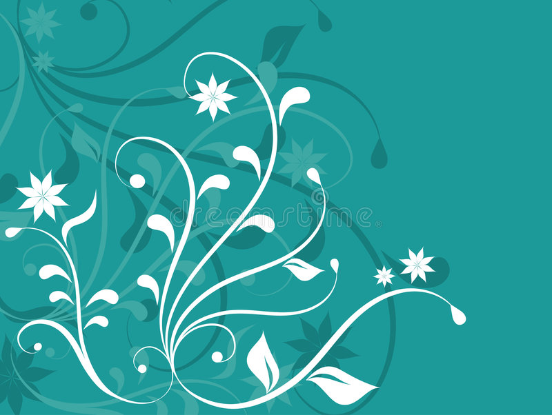 Abstrait floral illustration libre de droits