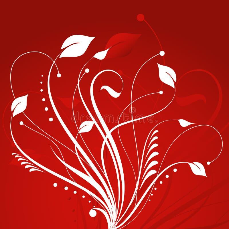 Abstrait floral illustration de vecteur