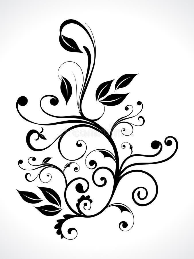 Abstrait floral avec la courbe illustration de vecteur
