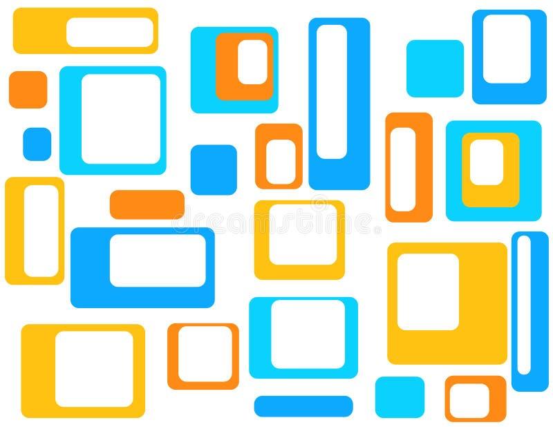 Abstrait géométrique coloré   illustration stock
