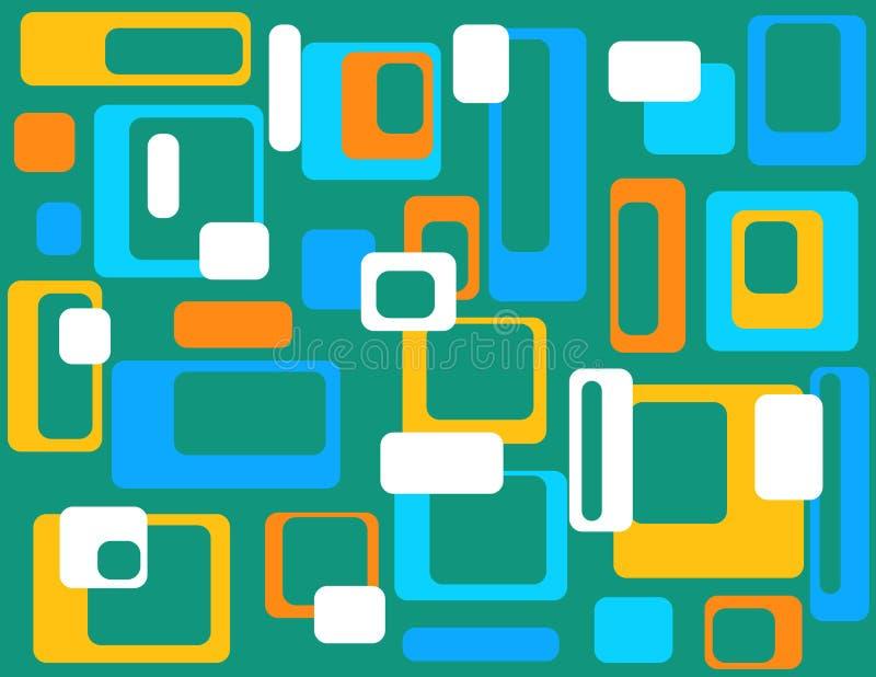 Abstrait géométrique coloré   illustration de vecteur