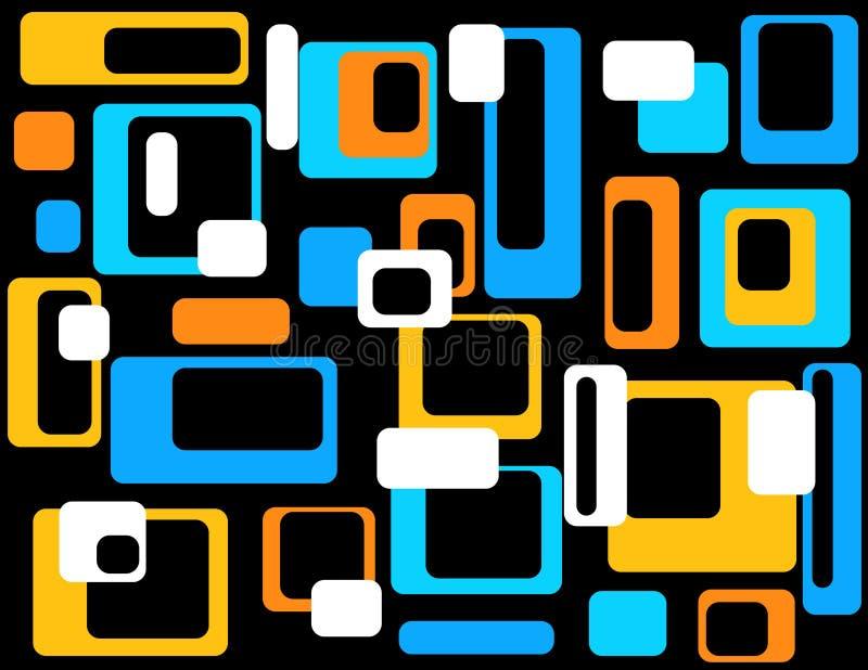 Abstrait géométrique coloré illustration libre de droits
