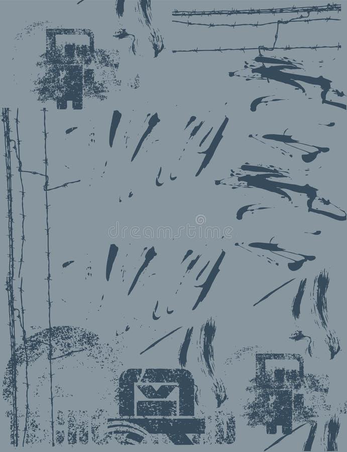 Abstrait gris illustration libre de droits