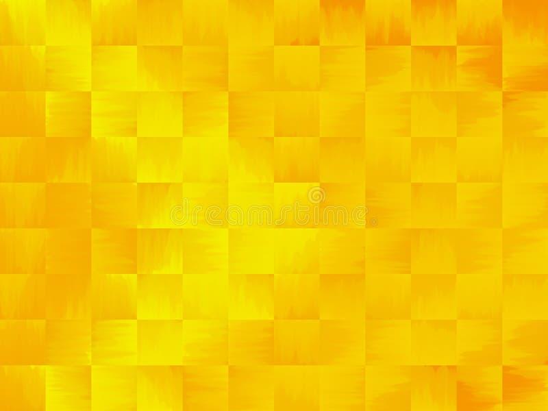 Abstrait jaune et orange illustration stock