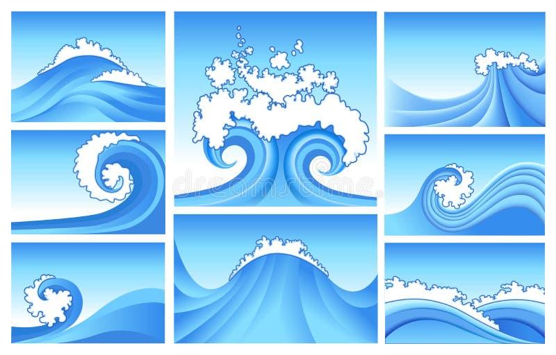 Abstrait marin illustration stock