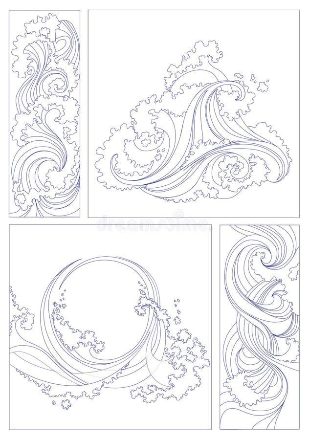 Abstrait marin illustration libre de droits