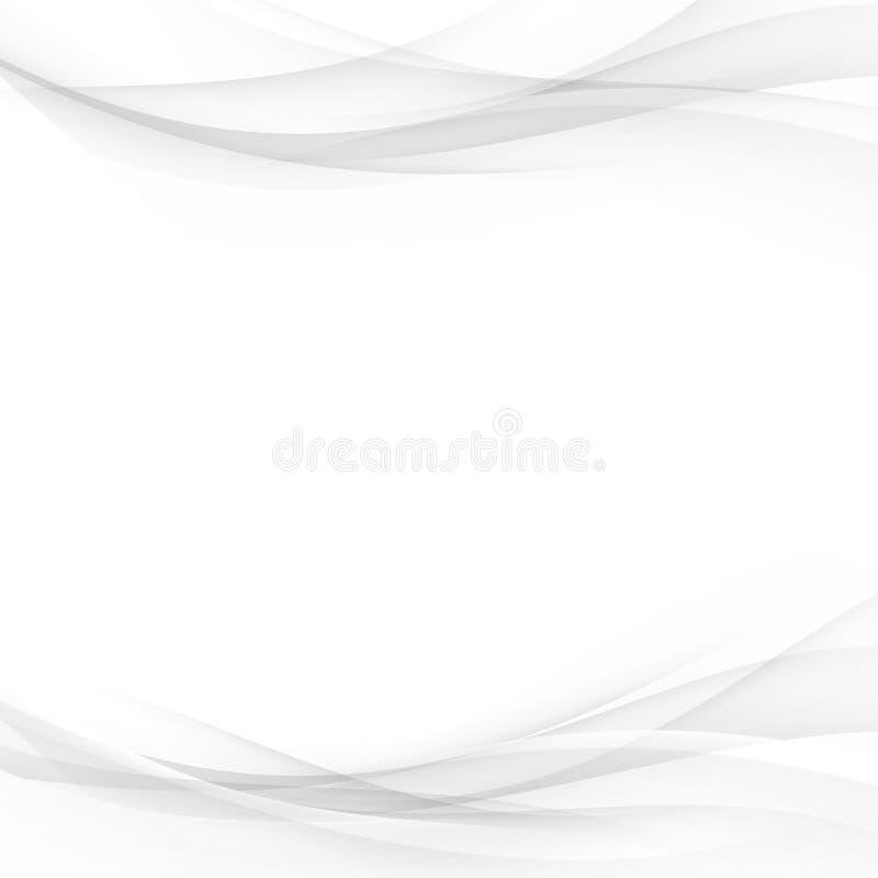 Abstrait mou dessin gradient de carte de séparateur de lignes illustration de vecteur