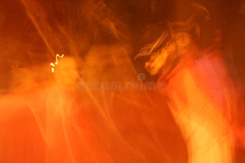 Abstrait orange chaud images libres de droits